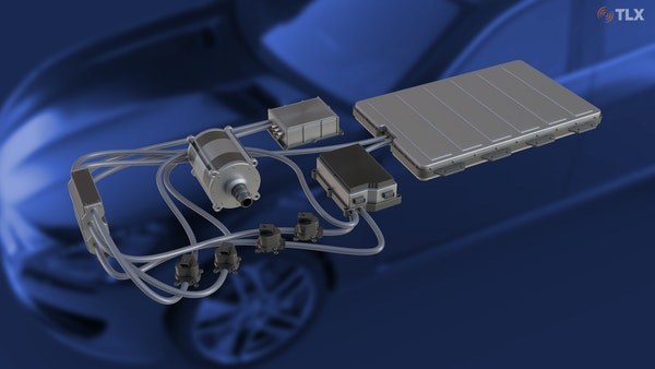 Thermal Management Setup with Car in Background